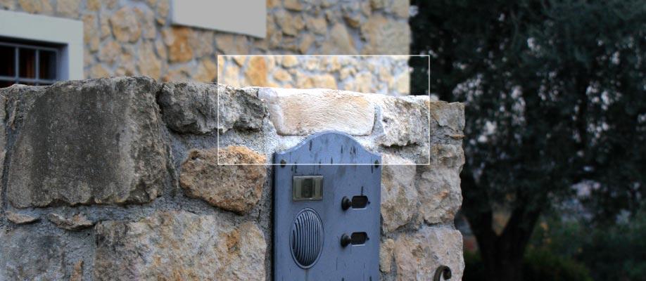 Pietra luminosa funzionale per postazione campanello e citofono - Spenta
