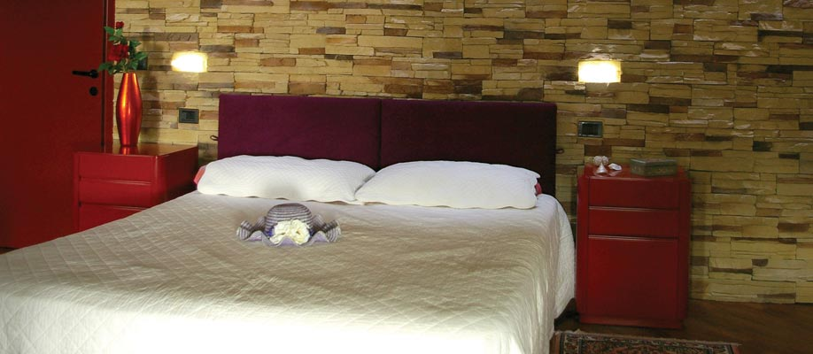 Sostituzione abat-jour camera da letto con pietre luminose da incasso